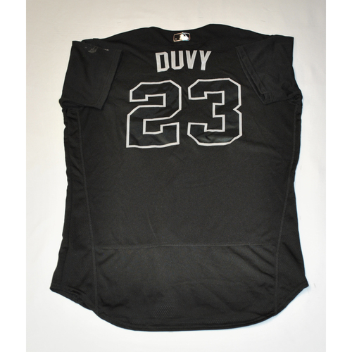 "Photo of Adam ""DUVY"" Duvall Atlanta Braves Game-Used 2019 Players' Weekend Jersey"