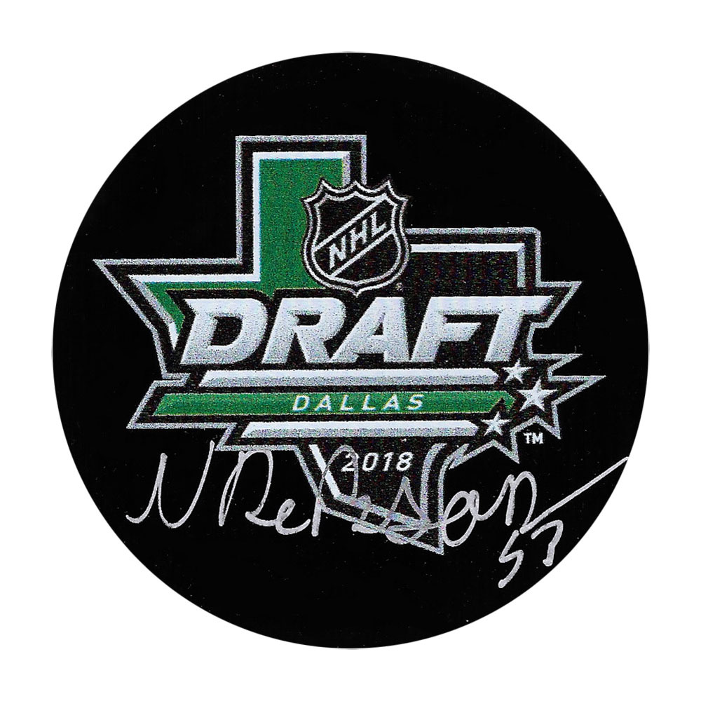 Noah Dobson Autographed 2018 NHL Entry Draft Puck
