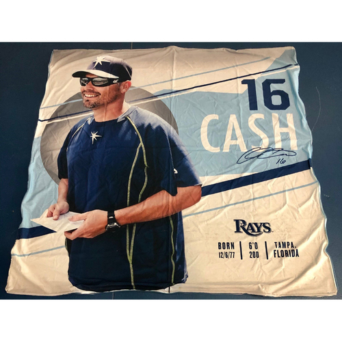 Photo of Rays Baseball Foundation: Team Issued Banner - Kevin Cash