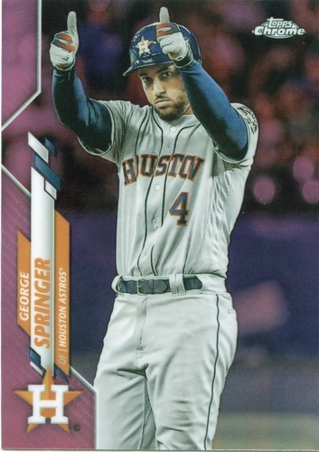 Photo of 2020 Topps Chrome Pink Refractors #194 George Springer