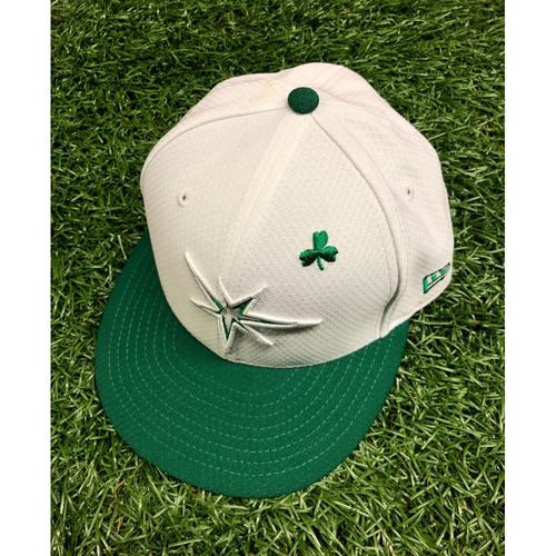 Team Issued St. Patrick's Day Cap: Kevin Cash #16 - March 26, 2019 v DET