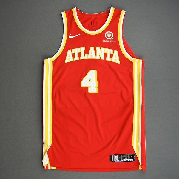 Image of Skylar Mays - Atlanta Hawks - Game-Worn Icon Edition Jersey - Scored Career-High 20 Points - 2020-21 NBA Season