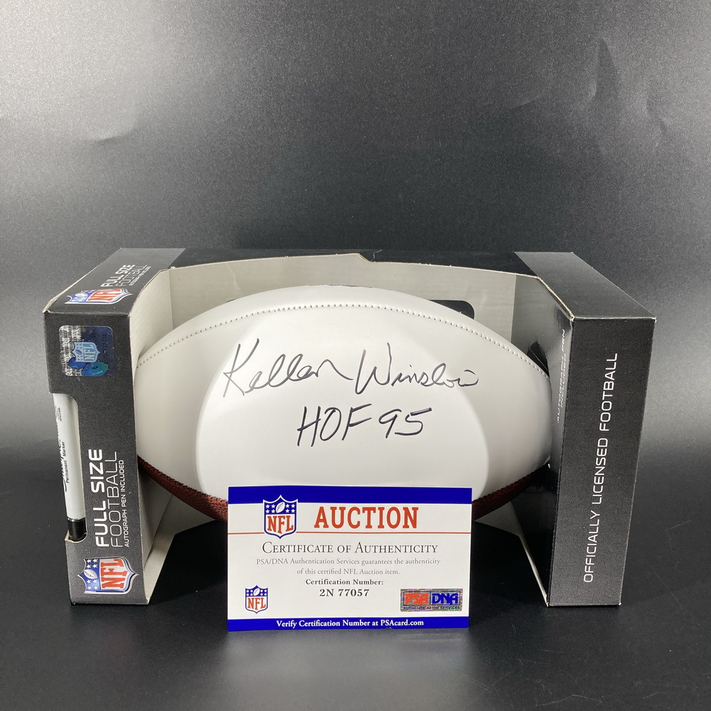 HOF - Chargers Kellen Winslow Singed Panel Ball with HOF Logo and