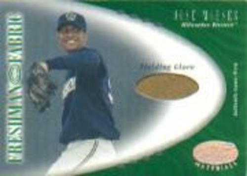 Photo of 2001 Leaf Certified Materials #126 Jose Mieses FF Fld Glv RC
