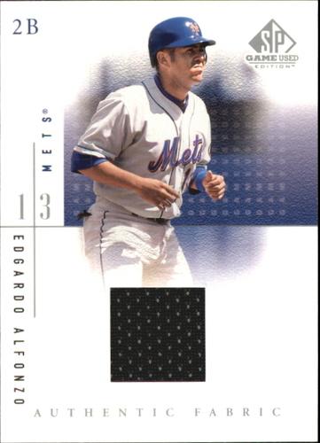 Photo of 2001 SP Game Used Edition Authentic Fabric #EA Edgardo Alfonzo