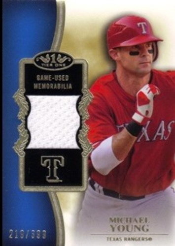 Photo of 2012 Topps Tier One Relics #MY Michael Young/399