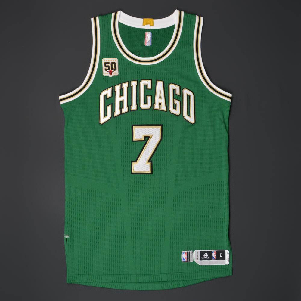 timeless design ced40 a6534 Justin Holiday - Chicago Bulls - Game-Worn 'St. Patrick's ...