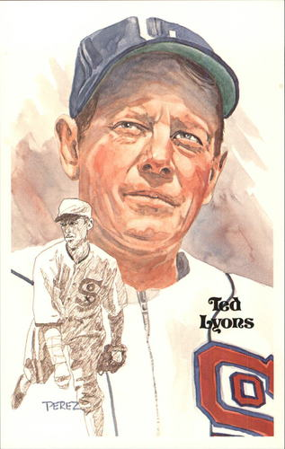 Photo of 1980-02 Perez-Steele Hall of Fame Postcards #77 Ted Lyons  -- HOF Class of 1955