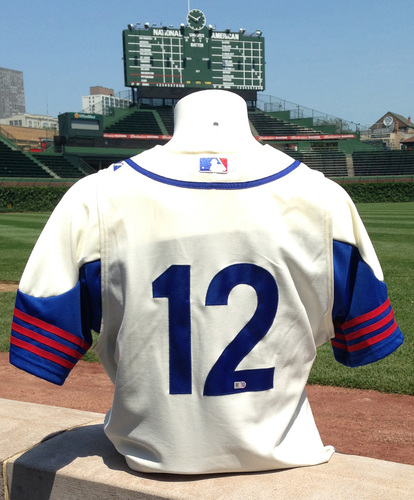 32c52be68d7 1942 Throwback Auction   John Baker Game-Used Uniform - Cubs vs. Marlins -