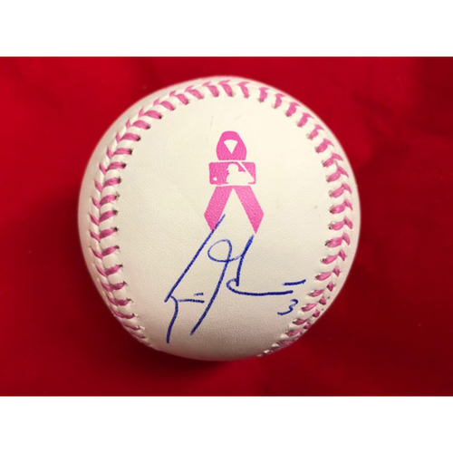 Photo of Scooter Gennett -- Autographed Mother's Day Baseball