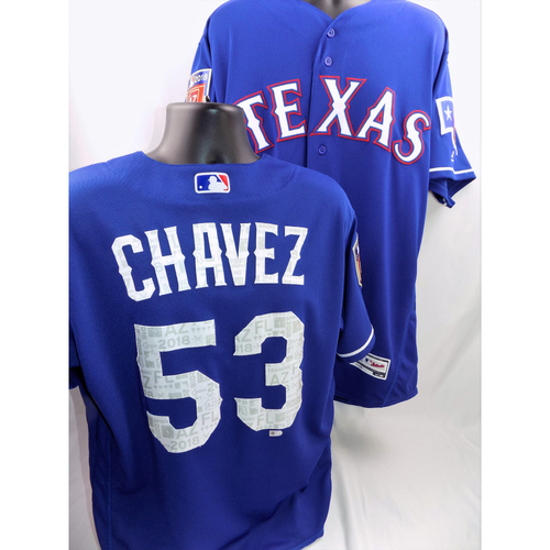 Photo of Game-Used Spring Training Jersey - Jesse Chavez - Size 44 - 3/8/18