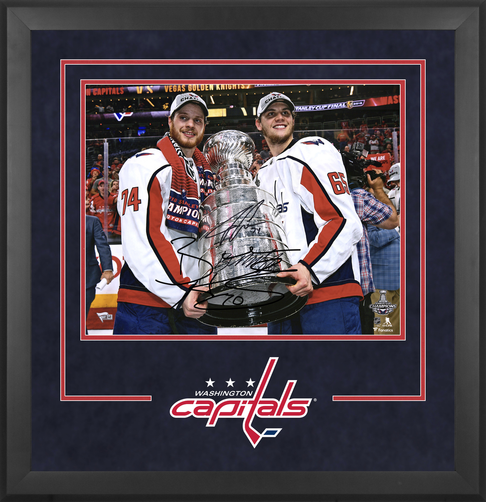 2b7525f095b Andre Burakovsky & John Carlson Washington Capitals 2018 Stanley Cup  Champions Autographed Deluxe Framed 16