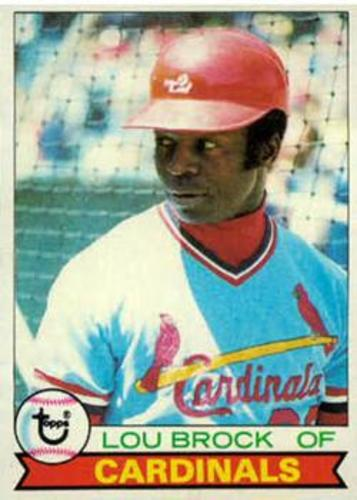Photo of 1979 Topps #665 Lou Brock Hall of Fame Class of 1985