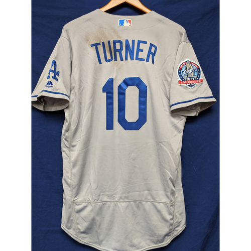 Photo of Kershaw's Challenge: Justin Turner Game-Used Road Jersey (5 RBIs) - 5/17/18