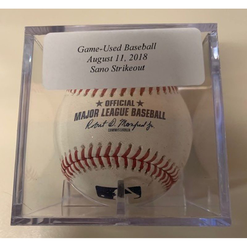 Photo of Game-Used Baseball: Miguel Sano Strikeout