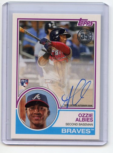 Photo of 2018 Topps '83 Topps Autographs  Ozzie Albies