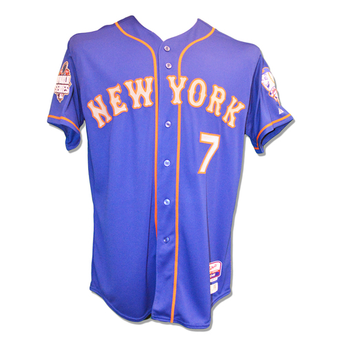 Travis d'Arnaud #7 - Team Issued Blue Alt. Road Jersey - 2015 World Series