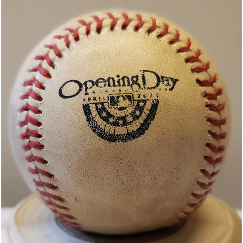 Photo of 2013 Opening Day - Los Angeles Dodgers at San Diego Padres: Game-Used Baseball - Batter: Juan Uribe, Pitcher: Clayton Richard - Top of 1, Foul Tip - 4/9/13