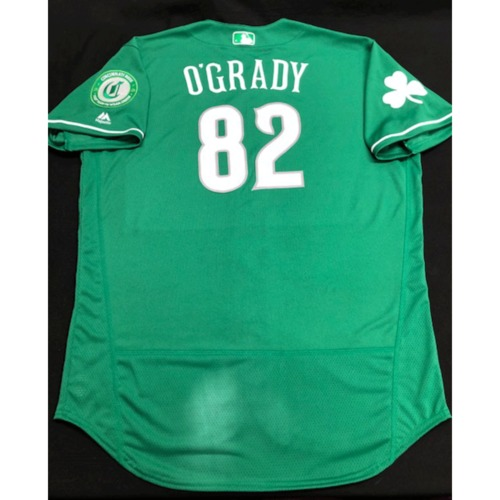 Photo of Brian O'Grady -- Game-Used Jersey -- 2019 St. Patrick's Day