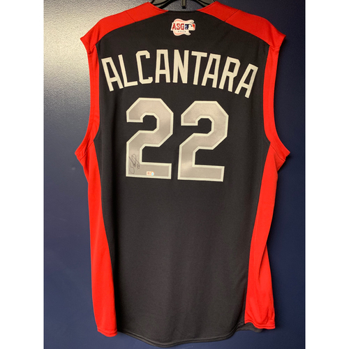 Photo of Sandy Alcantara 2019 Major League Baseball Workout Day Autographed Jersey