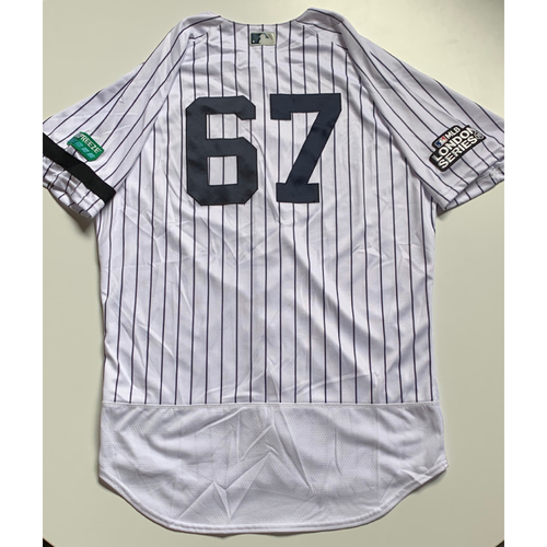 Photo of 2019 London Series - Team Issued Jersey - Nestor Cortes, Jr., New York Yankees vs Boston Red Sox - 6/29/19