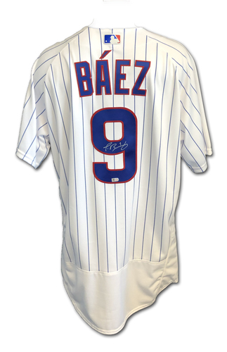 Photo of Javier Baez Autographed Jersey: Size 48