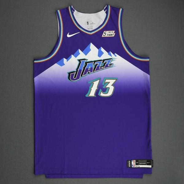 Image of Tony Bradley - Utah Jazz - Game-Worn Classic Edition 1996-04 Road Jersey - 2019-20 Season