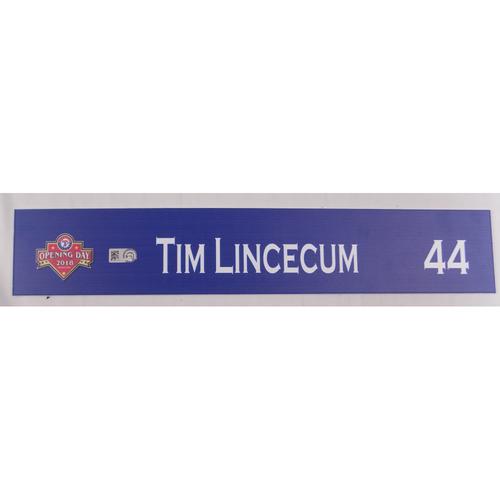 Photo of Team-Issued Locker Tag - Tim Lincecum