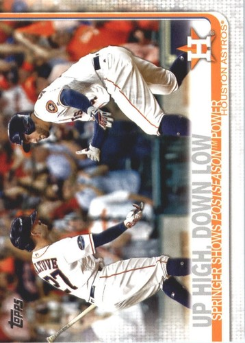 Photo of 2019 Topps #447 Up High, Down Low/Jose Altuve/George Springer