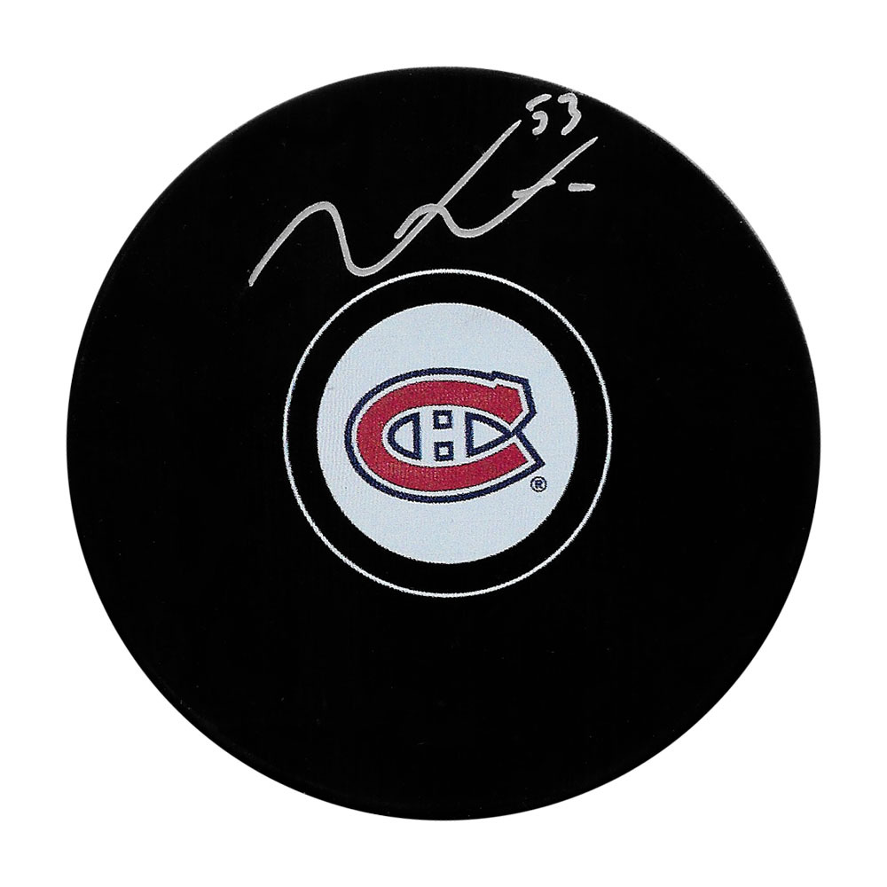 Victor Mete Autographed Montreal Canadiens Puck
