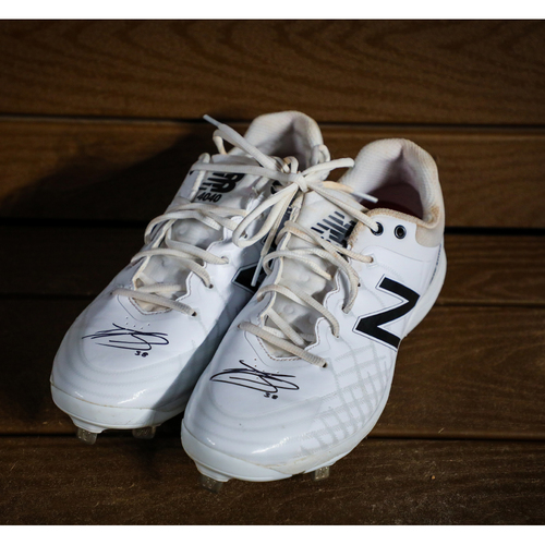 Photo of Nick Goody Autographed Cleats(Used) - NOT MLB AUTHENTICATED - Certificate of Authenticity Included