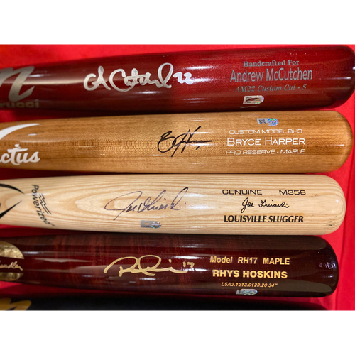 Photo of 2020 Philadelphia Phillies Infielders & Outfielders Autographed Bat Set