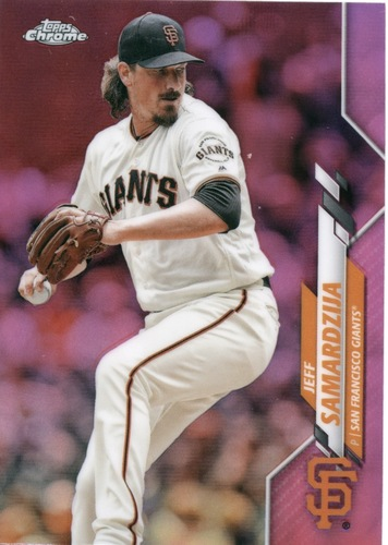 Photo of 2020 Topps Chrome Pink Refractors #197 Jeff Samardzija