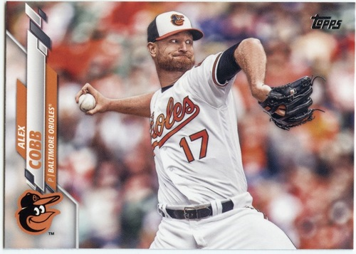 Photo of 2020 Topps #656 Alex Cobb