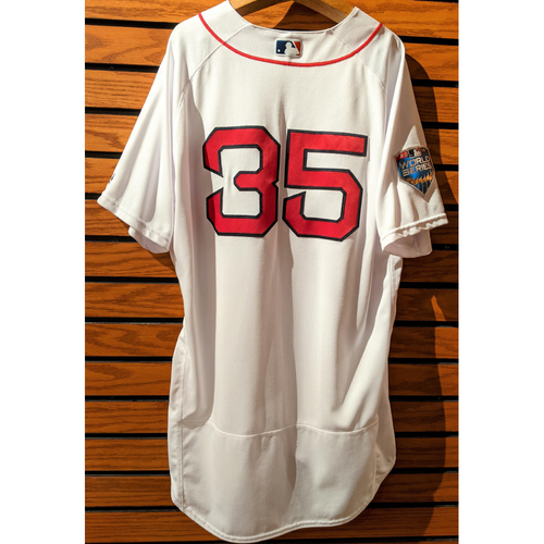 Photo of 2018 World Series Steven Wright #35 Team Issued Home White Jersey
