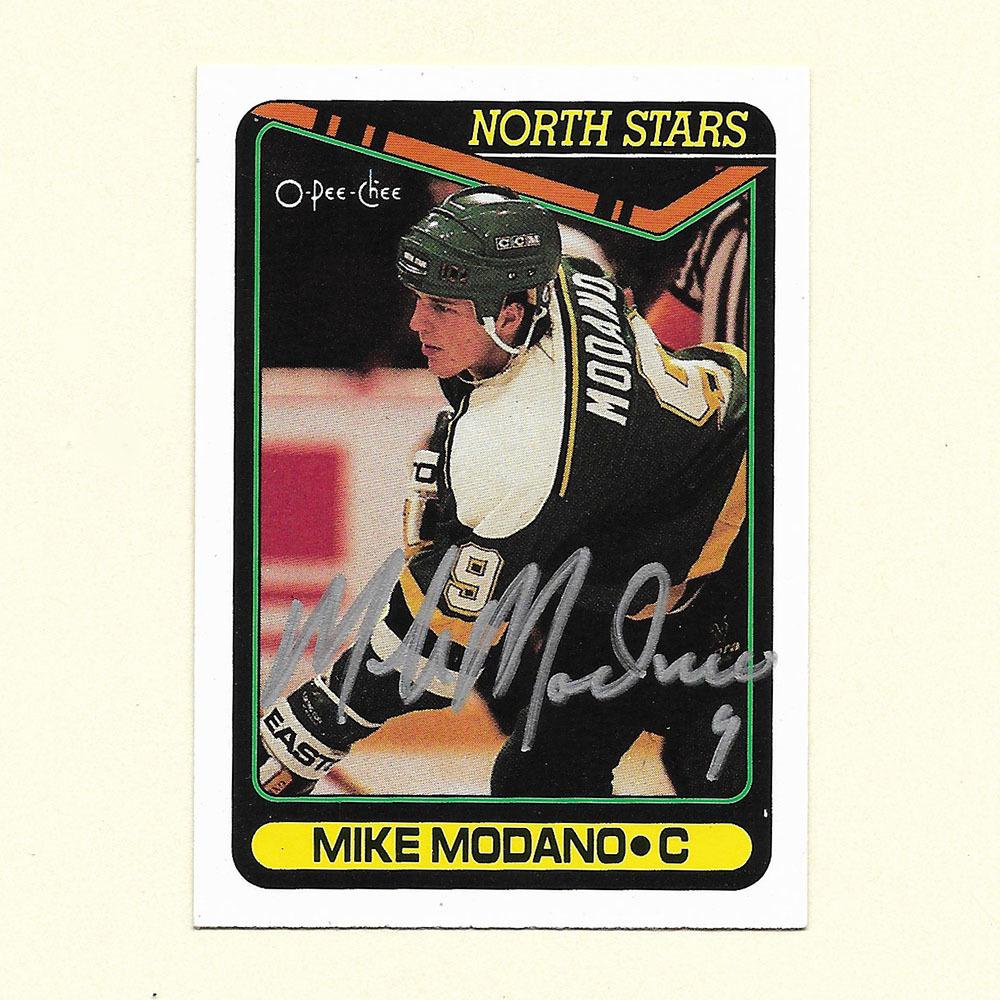 Mike Modano Autographed 1990 O-Pee-Chee Hockey Card