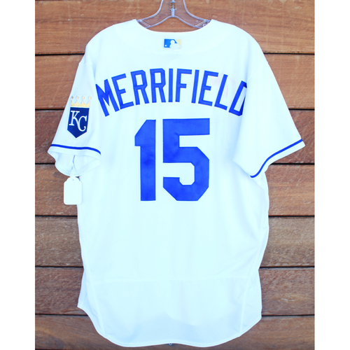 Photo of Game-Used Jersey: Whit Merrifield #15 - 1 for 3, Single (STL@KC 8/15/21) - Size 44