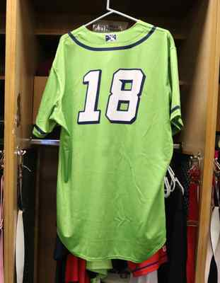 Stockton Ports Diego Granado Asparagus jersey, #18, Size 48