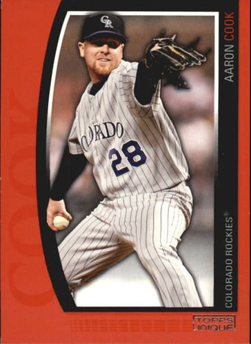 Photo of 2009 Topps Unique Red #52 Aaron Cook