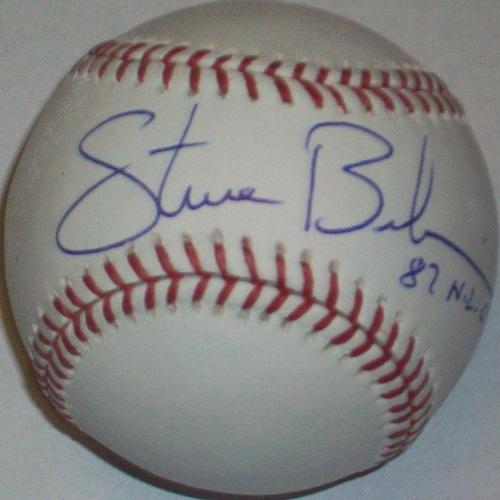"Photo of Steve Bedrosian ""87 NL CY"" Autographed Baseball"
