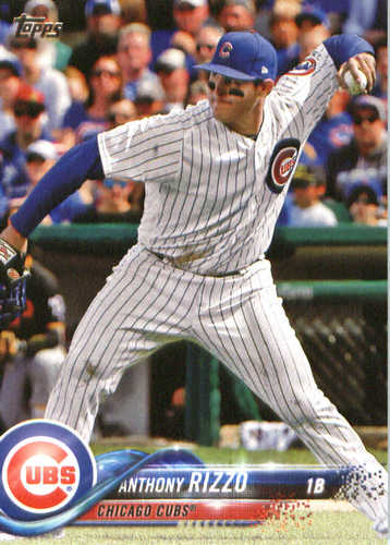 Photo of 2018 Topps #50 Anthony Rizzo