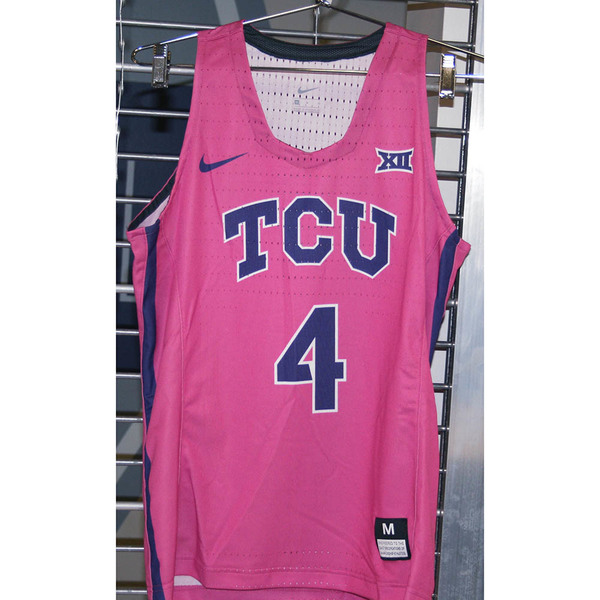 Photo of Women's Basketball Pink Game Worn Nike® Jersey #4 (M)