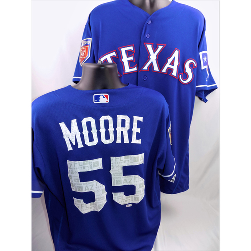 Photo of Game-Used Spring Training Jersey - Matt Moore - Size 46 - 3/26/18