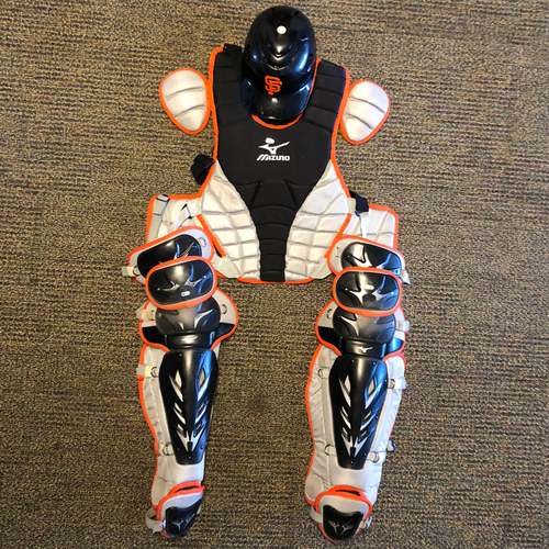 Photo of San Francisco Giants - Team Issued Catchers Gear - Eli Whiteside