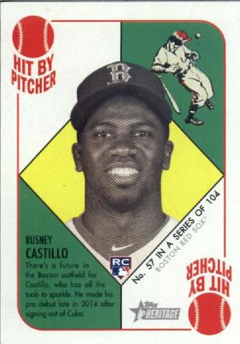 Photo of 2015 Topps Heritage '51 Collection #57 Rusney Castillo RC