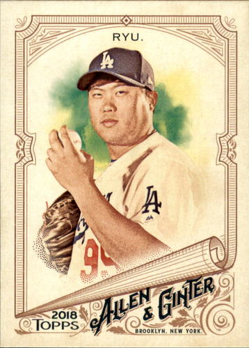 Photo of 2018 Topps Allen and Ginter #303 Hyun-Jin Ryu SP