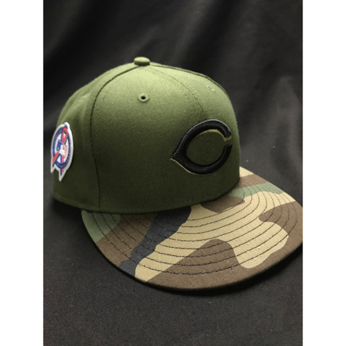 Photo of Billy Hamilton - Game-Used - Military Appreciation Hat (Worn: 2018) - 6/6 Starting CF, BB; 8/10 Starting CF, Went 1/3, 1 RBI