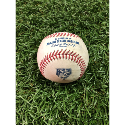 Photo of 20th Anniversary Game-Used Baseball: Brett Gardner triple off Jake Faria - September 25, 2018 v NYY