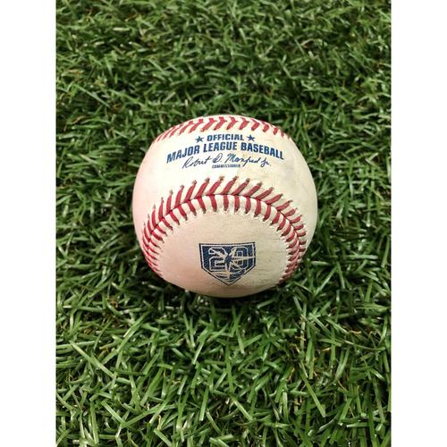 Photo of 20th Anniversary Game-Used Baseball: Brett Gardner triple off Jake Faria - September 25, 2018 v NYY