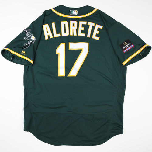 Photo of 2019 Japan Opening Day Series - Game Used Jersey - Mike Aldrete, Oakland Athletics at Nippon Ham Fighters -3/17/2019